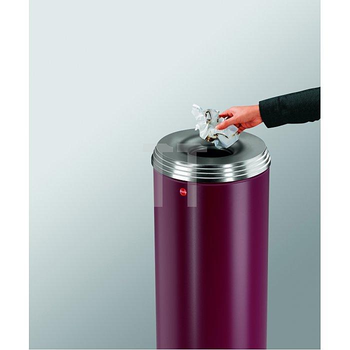 Hailo ProfiLine Safe pro 50 Bordeaux-Rot Flammenlöschender Papierkorb  0950-242