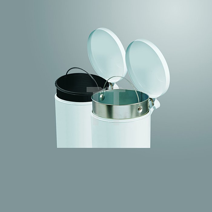 Hailo ProfiLine Solid 4 Tret-Kosmetikeimer Edelstahl Inneneimer: Kunststoff 0704-060