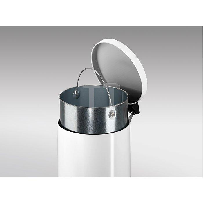 Hailo Tret-Abfallsammler ProfiLine Solid 20 weiß 20 Liter Inneneimer: verzinkt 0522-090