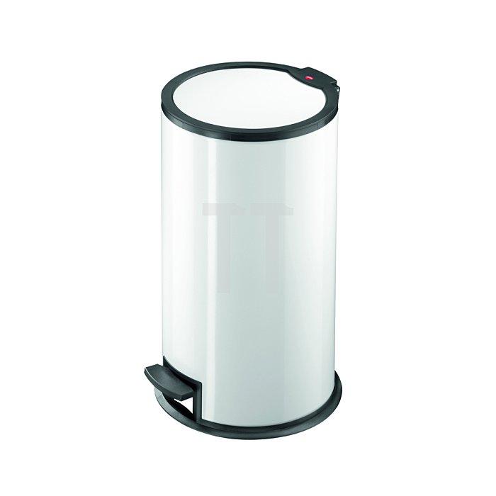 Hailo Tret-Abfallsammler T316 Stahlblechweiß Inneneimer: Kunststoff 0516-062