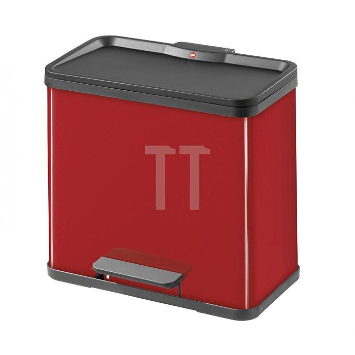 Hailo Tret-Abfalltrenner Hailo öko duo 30 Stahlbl rot 19 Liter+11 Liter 0630-719