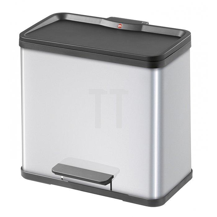 Hailo Tret-Abfalltrenner Hailo öko duo 30 Stahlbl silber 19 Liter+11 Liter 0630-122