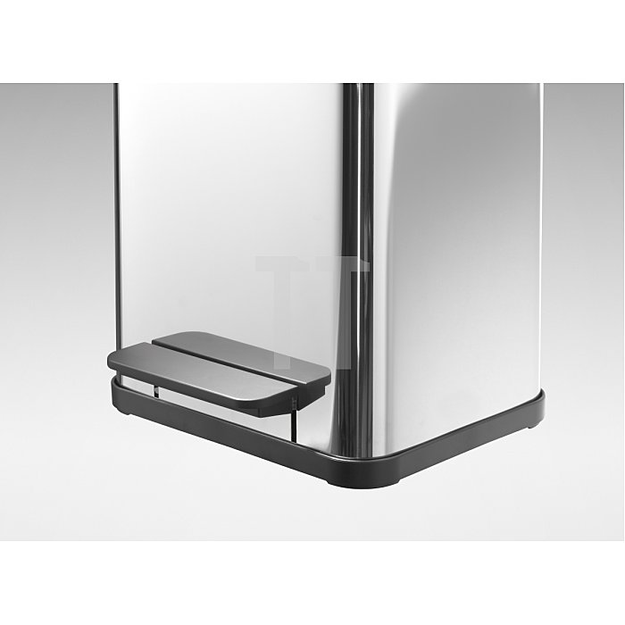Tretabfallsammler Stahlblech silber 2x11l, mit Kunststoff Inneneimer