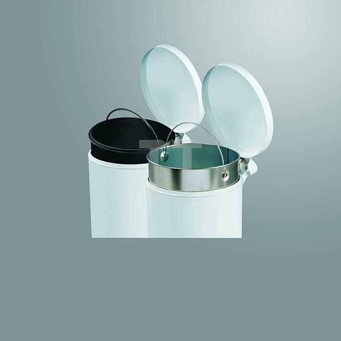 Hailo Tret-Kosmetikeimer ProfiLine Solid 4 silber Inneneimer: Kunststoff 0704-160