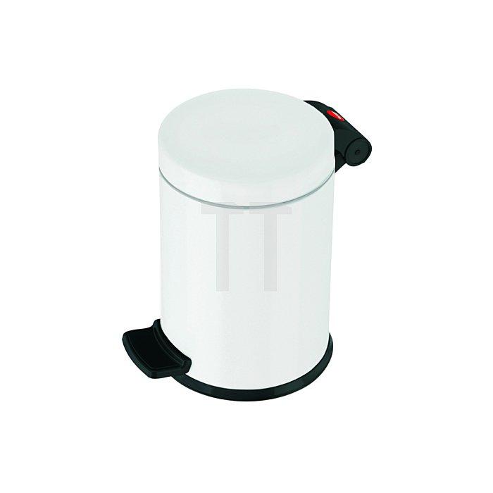 Hailo Tret-Kosmetikeimer ProfiLine Solid 4 weiß Inneneimer: verzinkt 0704-149
