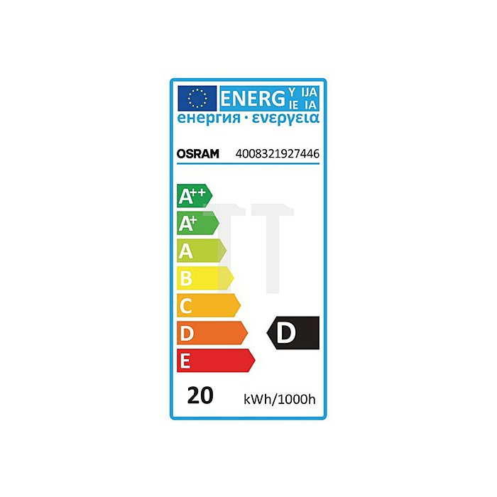 Halogenlampe 20W E14 Fassung 230V 235Lm Tropfenform warm weiss dimmbar