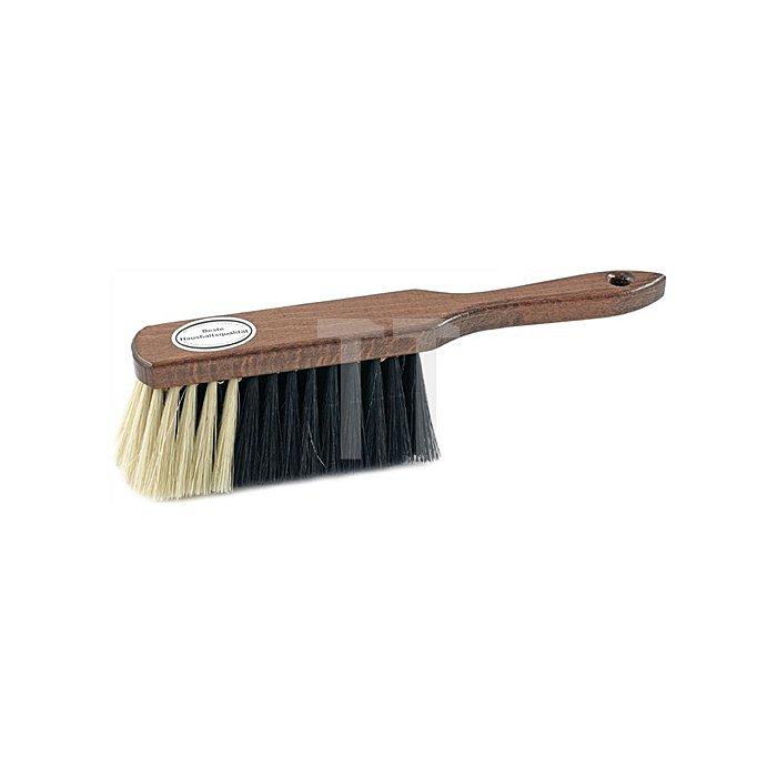 Handfeger Rosshaarmischung L.290mm braun lackiert heller Bart