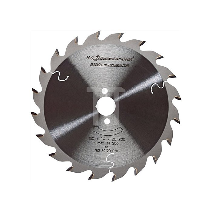 Handkreissägeblatt HW W 34Z. D.150mm B.2,4mm SCHUMACHER Bohrung 20mm