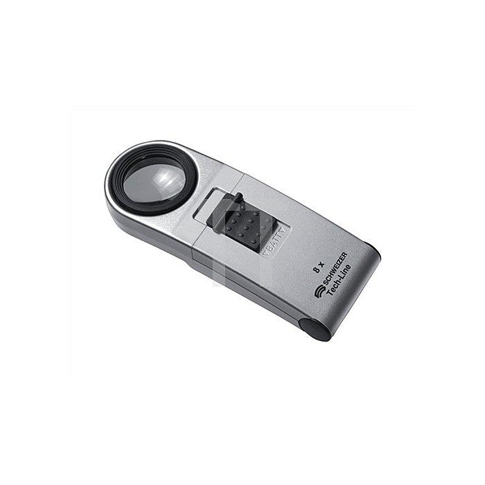 Handleuchtlupe Tech-Line Vergrößerung 8x LED Linsen-D.30mm