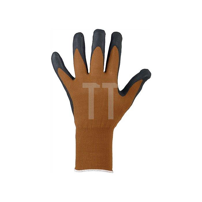Handschuh EN 388 Kat.II Dalian Gr.9 Nitrilschaum schwarz