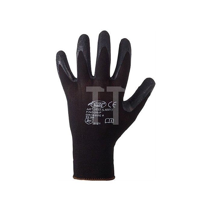 Handschuh EN 388 Kat.II Finegrip Gr.10 Schrumpf-Latex schwarz