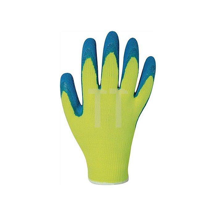 Handschuh EN 388 Kat.II Harrer Gr.10 Latex schrumpfgeraut blau