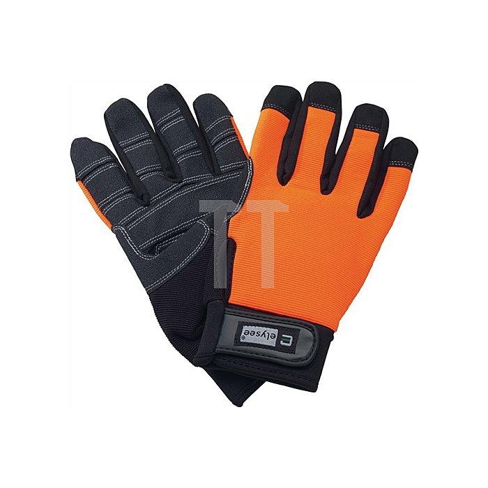 Handschuh EN 420 Kat.I Mechanical Builder Gr.9 Kunstleder schwarz/orange