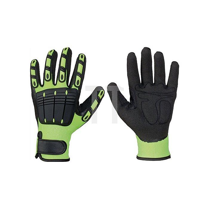 Handschuh EN 420 Kat.I Resistant Gr.11 Vinyl leuchtend gelb/schwarz