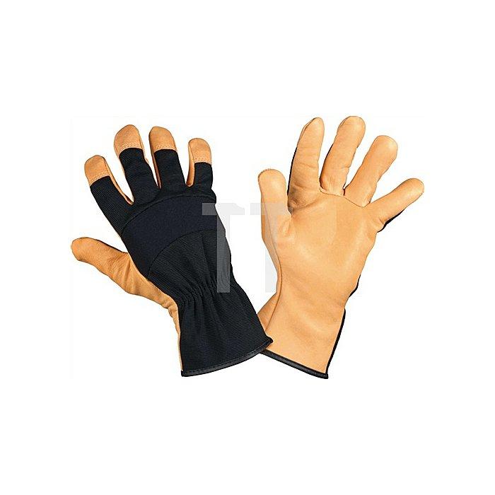 Handschuh EN388 Hydratex Long Gr.9 auf Karte Leder/Textilmaterial