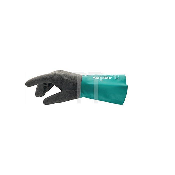 Handschuh EN388/374 Kat.III AlphaTec Nr.58-430 Gr. 10 Baumwollvelours m.Nitril