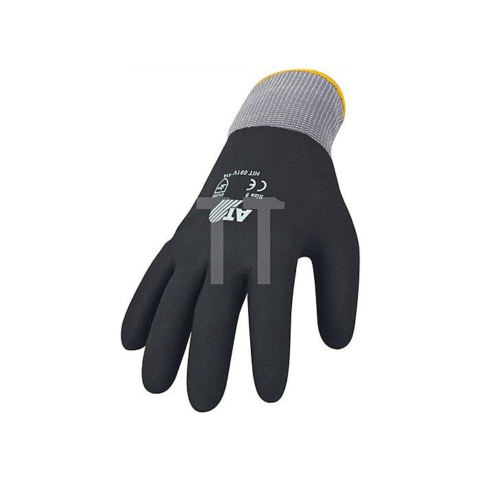 Handschuh HitFlex V Gr. 10 Nitril vollbeschichtet EN 388 Kat. II, schwarz