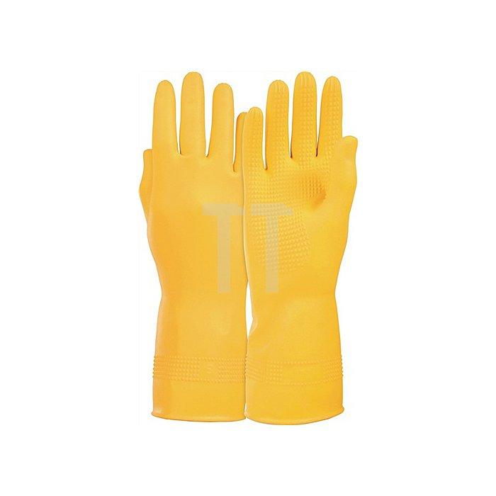 Handschuh Super Gr. 10 a. Naturlatex, velourisiert Lebensmittelgeeignet L.300mm