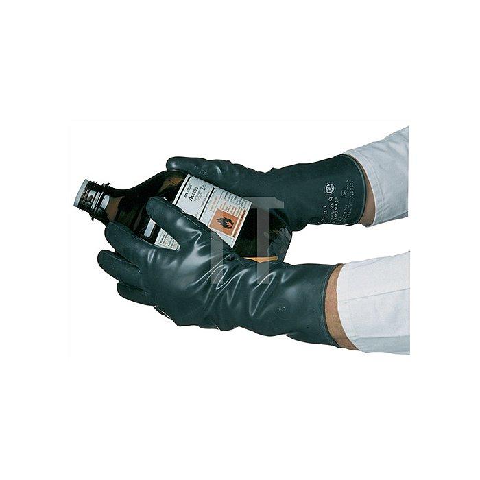 Handschuhe Butoject 898 Gr.9 schwarz Chemikalienschutz KCL m.Rollrand