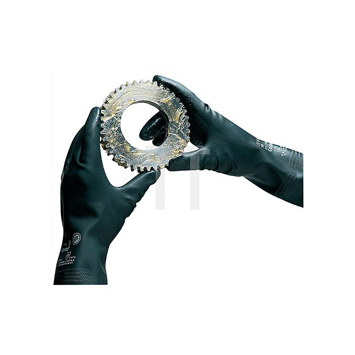 Handschuhe Camapren 720 Gr.10 L.300mm schwarz KCL velourisiert