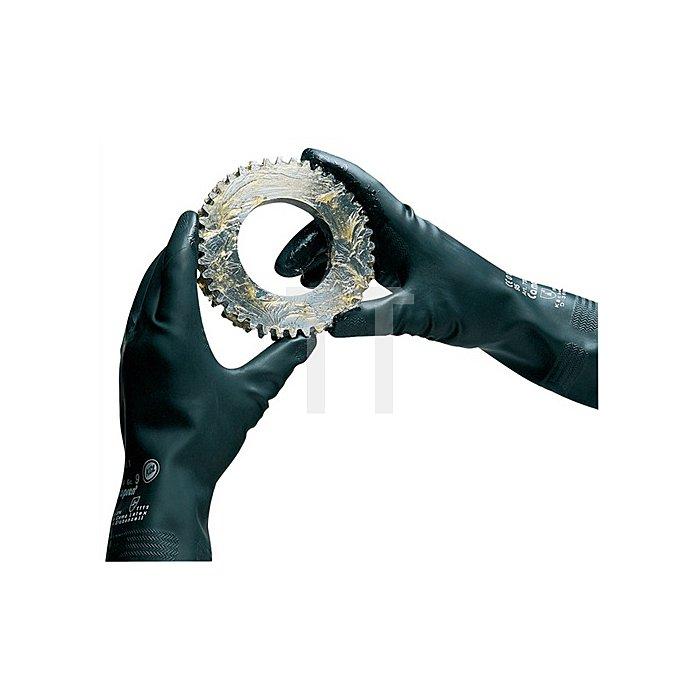 Handschuhe Camapren 720 Gr.7 L.300mm schwarz KCL velourisiert