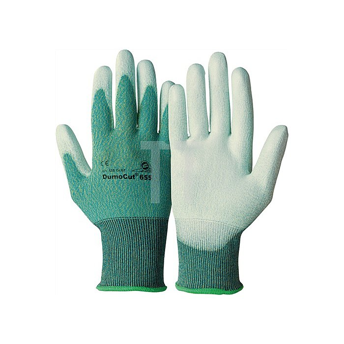 Handschuhe DumoCut 655 Gr. 11 KCL grün-blau/weiss PU-Innenhandbeschichtung