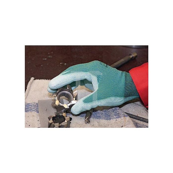 Handschuhe DumoCut 655 Gr. 8 KCL grün-blau/weiss PU-Innenhandbeschichtung