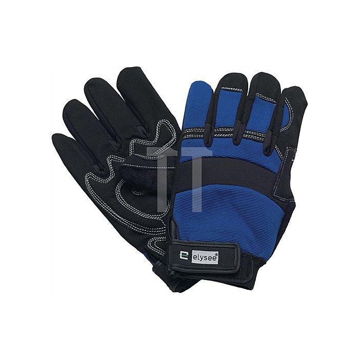 Handschuhe EN388 Kat. II Mechanical Master Gr.9 schwarz/blau Klettverschluss