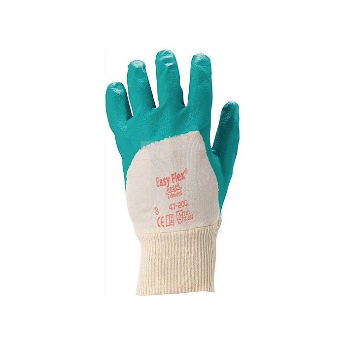 Handschuhe EN388 Kat.II Easy Flex 47-200 Gr. 8 Baumwolle m.3/4 Nitril grün
