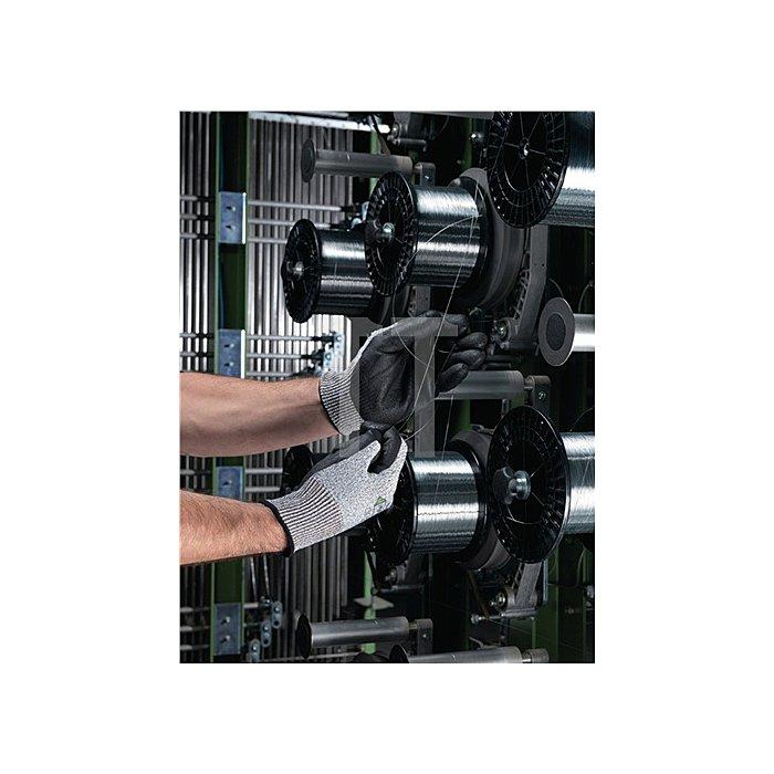 Handschuhe EN388 Kat.II HyFlex 11-435 Gr.8 Glasfaser Lycra Nylon m.PU schwarz
