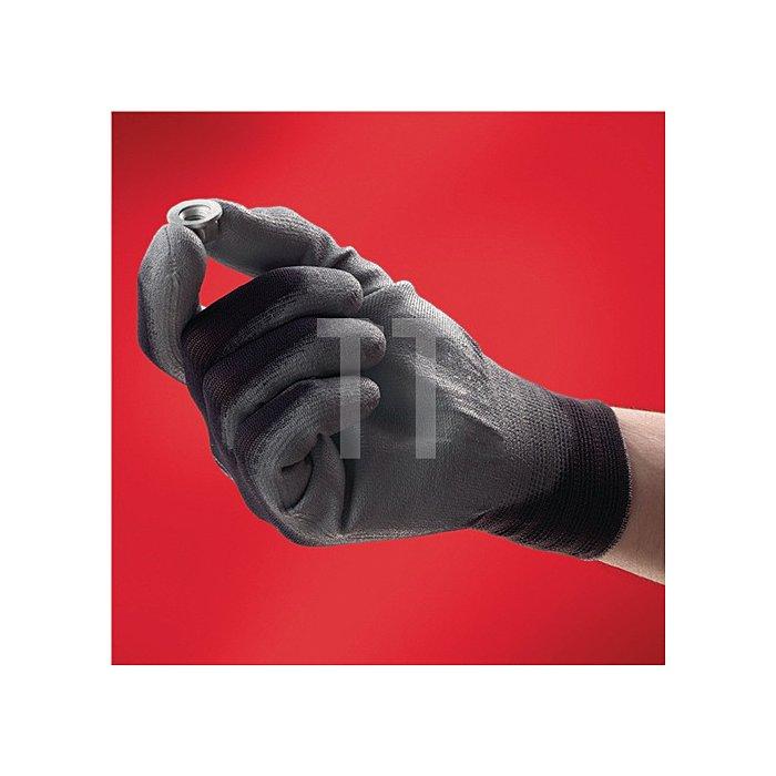 Handschuhe EN388 Kat.II HyFlex 11-601 Gr.7 Nylon m.Polyurethan schwarz/grau