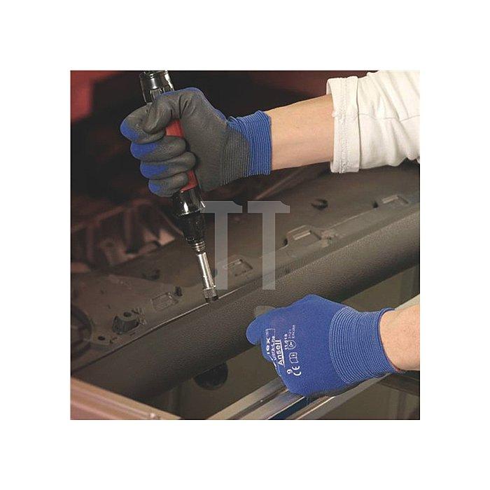 Handschuhe EN388 Kat.II HyFlex 11-618 Gr.10 Nylon m.Polyurethan blau/schwarz