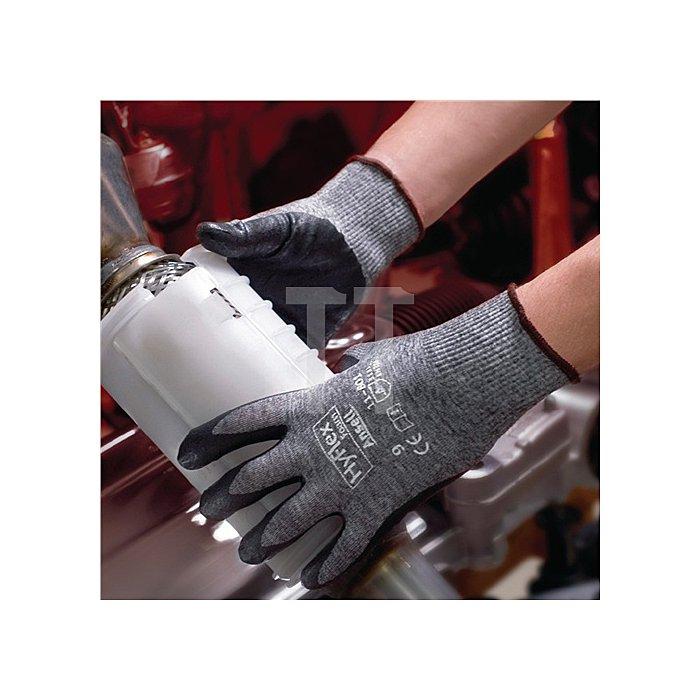 Handschuhe EN388 Kat.II HyFlex 11-801 Gr.10 Nylon m.Nitrilschaum grau/schwarz