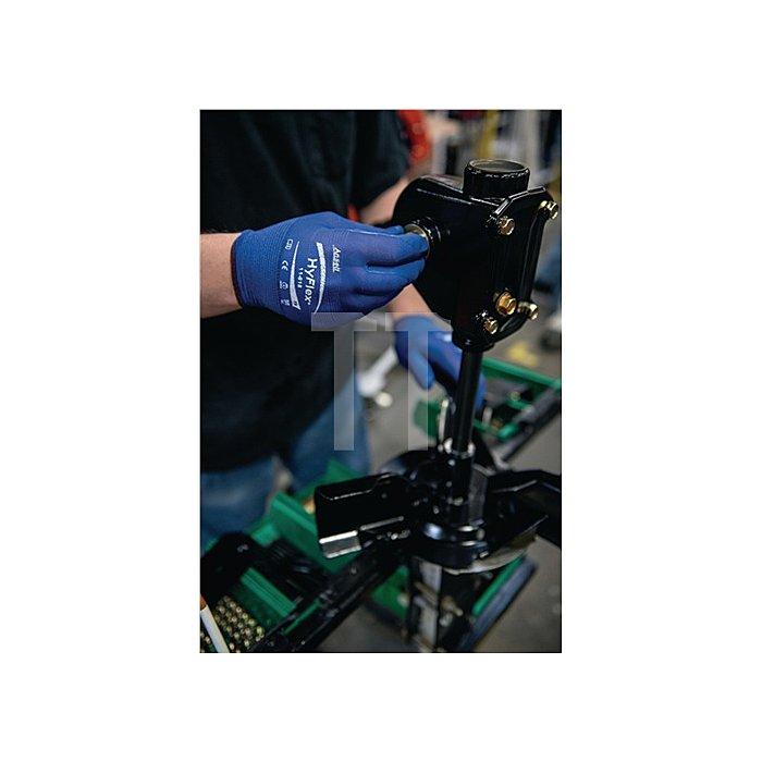 Handschuhe EN388 Kat.II HyFlex 11-818 Gr. 9 Nylon m.Nitrilschaum blau