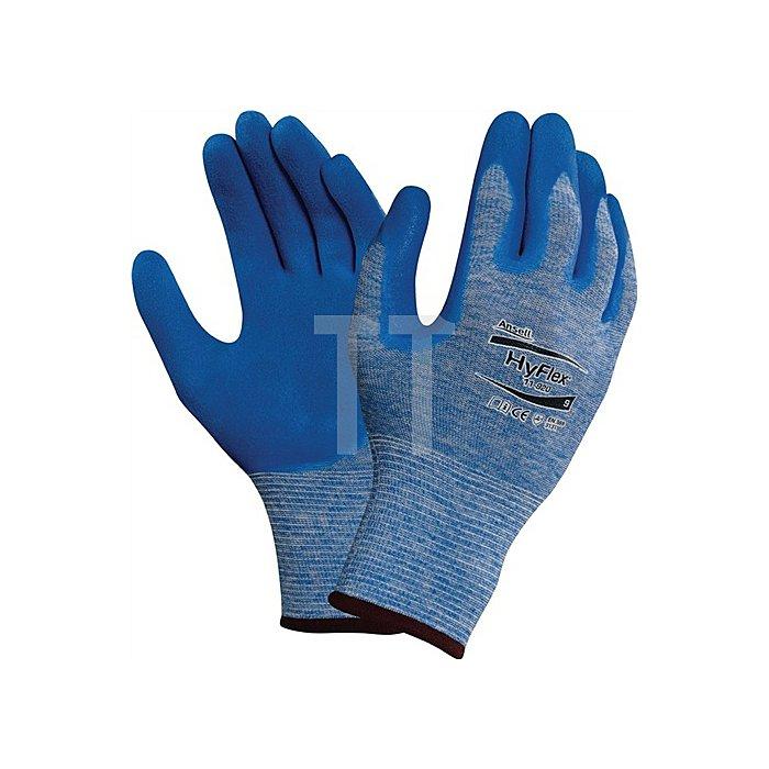 Handschuhe EN388 Kat.II HyFlex 11-920 Gr.7 Nylon m.Nitril blau