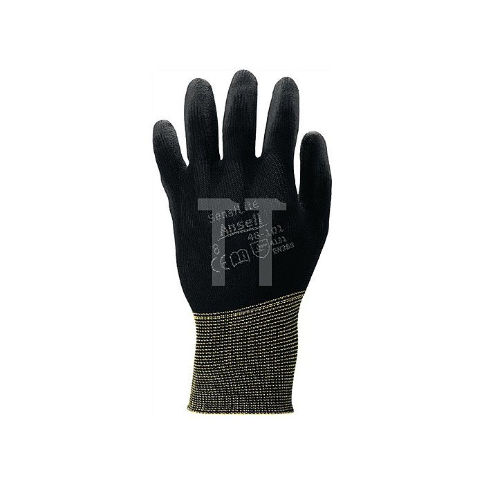 Handschuhe EN388 Kat.II SensiLite 48-101 Gr.10 Nylon m.Polyurethan schwarz