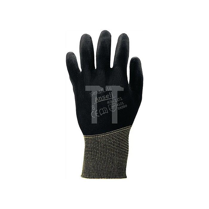 Handschuhe EN388 Kat.II SensiLite 48-101 Gr.9 Nylon m.Polyurethan schwarz