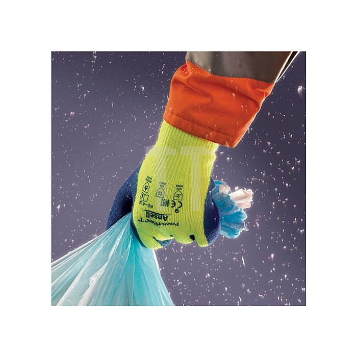 Handschuhe EN388/511/407 Kat.III PowerFlex 80-400 Gr. 9 Acryl m.Naturgummilatex