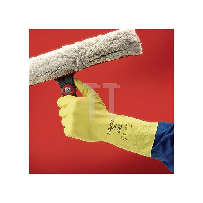 Handschuhe EN420 Kat.I Econohands Plus 87-190 Gr. 7,5-8 Baumwollvelours m.Latex