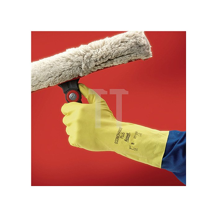 Handschuhe EN420 Kat.I Econohands Plus 87-190 Gr. 8,5-9 Baumwollvelours m.Latex