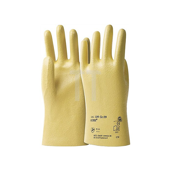 Handschuhe Gobi 109 Gr.10 Nitril Baumwolltrikot KCL gelb