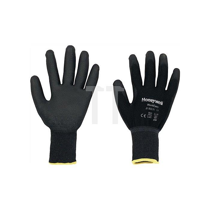 Handschuhe Gr. 8 Workeasy Black PU,EN388,PES m.PU-Beschichtung schwarz