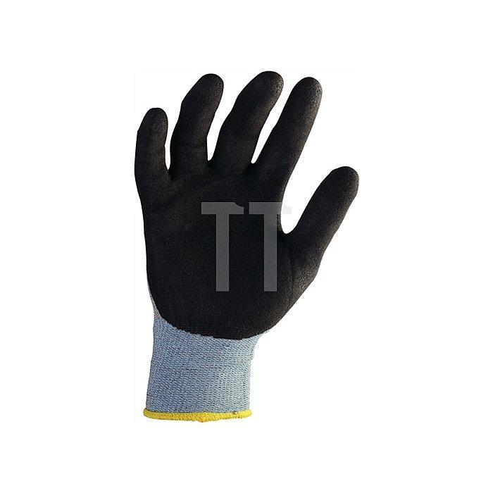 Handschuhe Gr. 9 HitFlex Nylonstrick mit Nitrilbeschichtung schwarz ohne Noppen