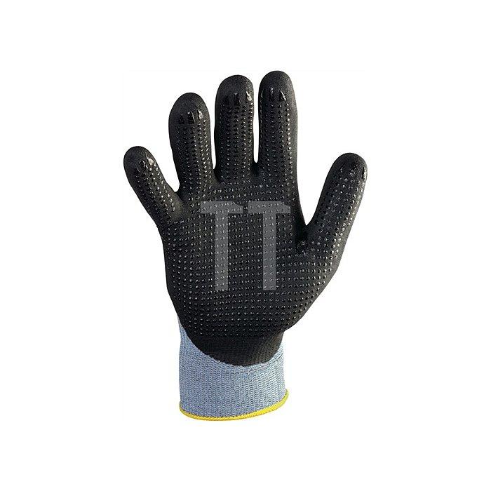 Handschuhe Gr.10 HitFlex N Nylonstrick mit Nitrilbeschichtung schwarz mit Noppen