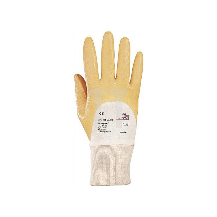 Handschuhe Monsun 105 Gr. 9 curry Nitril m. Strickbund KCL