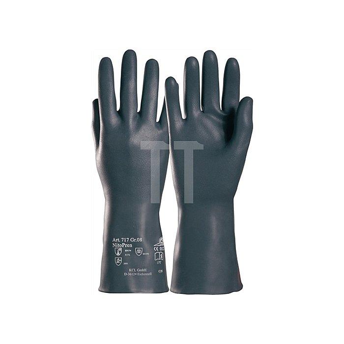 Handschuhe Nitopren 717 Gr.9 L.310mm Nitril/Chloropren velourisiert
