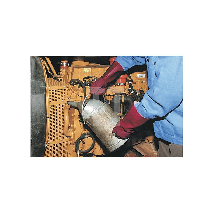 Handschuhe PVC rot Mainbis 40 G Gr.7/8 L.400mm Sperian Baumwoll-Interlock-Träger