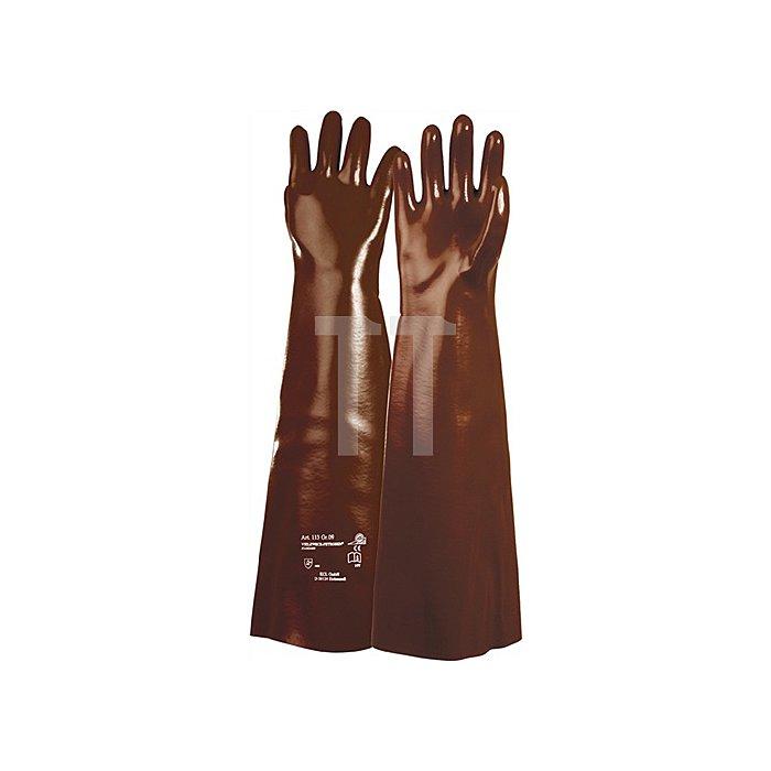 Handschuhe PVC rotbraun 133 Gr.10 L.600mm KCL Baumwolltrikot