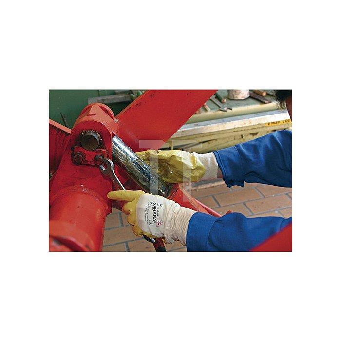 Handschuhe Sahara 100 Gr.8 gelb Nitril L.250mm KCL m.Strickbund