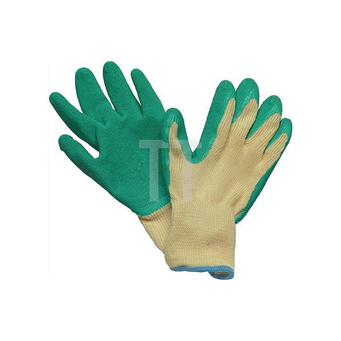 Handschuhe Specialgrip Gr.9 Mittelstrick Naturlatexbeschichtung gelb/grün